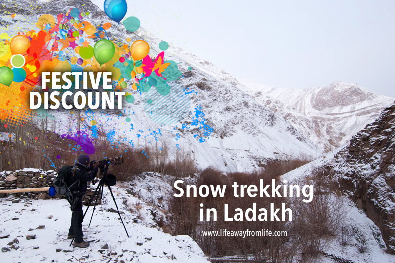 snow trekking in ladakh