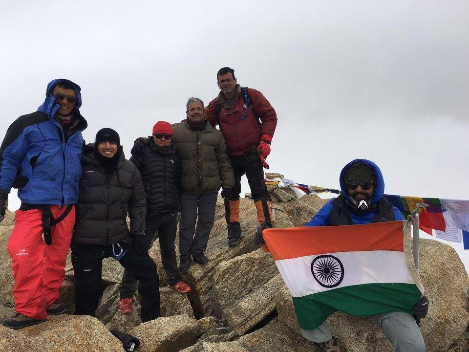 The LAFL team summits Mentok Kangri 1 6270m